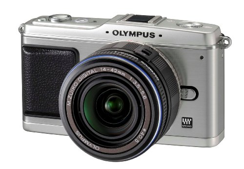 Olympus PEN E-P1 12.3 MP Micro Four Thirds Interchangeable Lens Digital Camera with 3-inch LCD and Silver 14-42mm f/3.5-5.6 Zuiko Digital Zoom Lens (Silver)