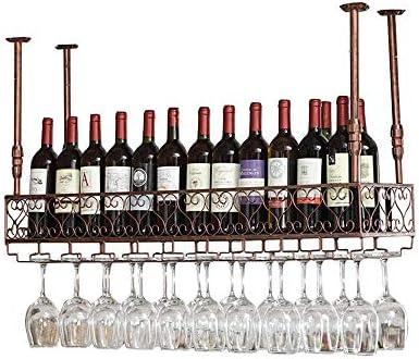 JJ Botellero De Pared | Botellero Vintage De Metal | Sostenedor De Copa De Vino Suspendido | Botellero Rústico Vinoteca De Pared Vinoteca