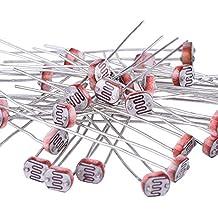 eBoot 30 Pieces Photoresistor Photo Light Sensitive Resistor Light Dependent Resistor 5 mm GM5539 5539