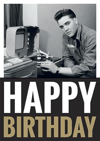 Postkarte A6 Lustig Von Modern Times Elvis Presley Happy