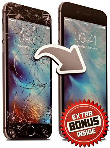 Screen Repair Complete Tool Kit Replacement Parts for iPhone 7 Plus (Black) Front Glass Lens Step by Step Instructions Two Extra Bonuses USB Charging Cable and Lightweight Matching Protector Case