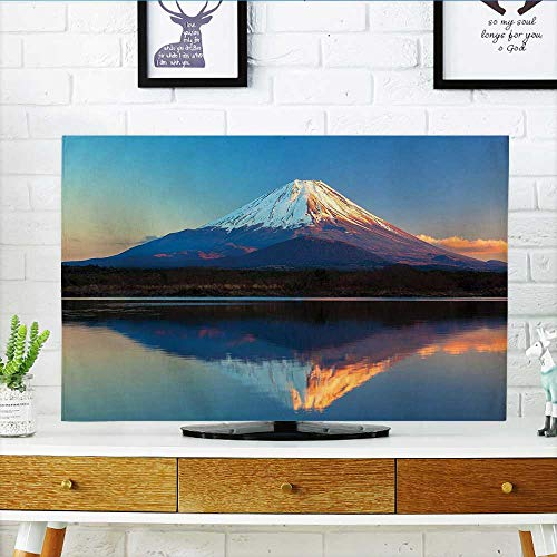 Jiahonghome Cord Cover for Wall Mounted tv East Nature Decor Collection Mount Fuji and Lake Shoji Picture Clear Sky Sunset Cover Mounted tv W30 x H50 INCH/TV 52