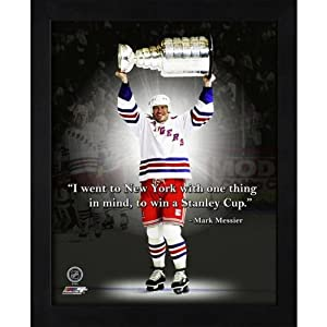 "Mark Messier New York Rangers (Trophy) Framed 11x14 ""Pro Quote"""