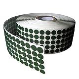 "Green Adhesive Kiss Cut Felt Button Rolls - Medium Duty 1/16"" Thick, 1"" DIA, 1060 PCS"