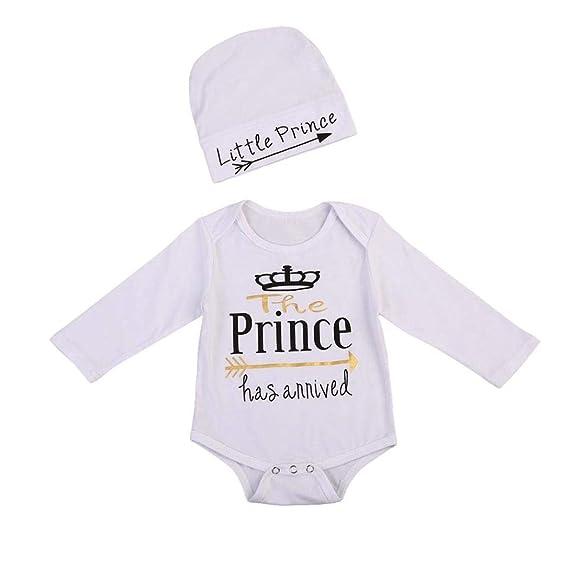 Counjunto de Ropa bebé, ZARLLE Ropa Bebe Nino Recien Nacido OtoñO Letra Flecha Corona ImpresióN