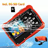 Kids Digital Camera, Crazyfire 12MP HD 720P Waterproof Camerafor Kids with 2 inch LCD Display, Underwater Camera with Float Strap, 8GB Memory Card Included