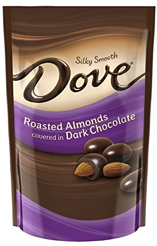 DOVE Dark Chocolate Almond Candy 4.5-Ounce Bag (Pack of 6)