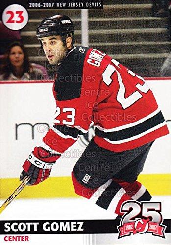 ((CI) Scott Gomez Hockey Card 2006-07 New Jersey Devils Team Issue 8 Scott Gomez)