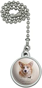 GRAPHICS & MORE Corgi Dog Breed Ceiling Fan and Light Pull Chain