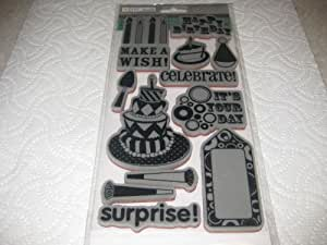 TPC Studio Rubber Cling Stamps - Birthday Party #340