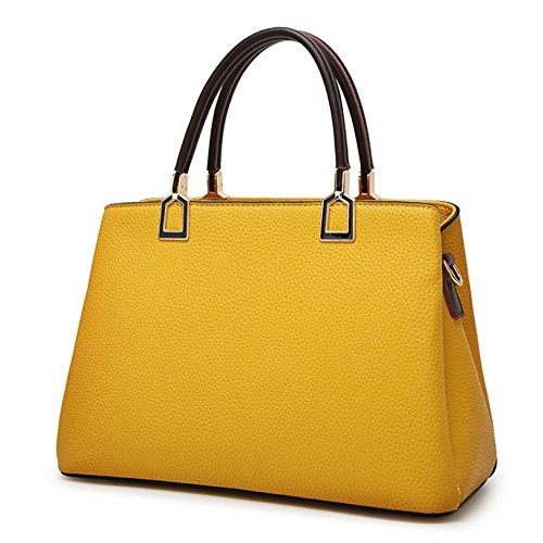 ZLL Women's bag Bolso De La Mujer Atmosférico Casual Simple Hombro Diagonal Bolso Yellow