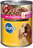 Pedigree Meaty Ground Dinner with Chopped Beef Food for Dogs, 13.2-Ounce Cans (Pack of 24), My Pet Supplies