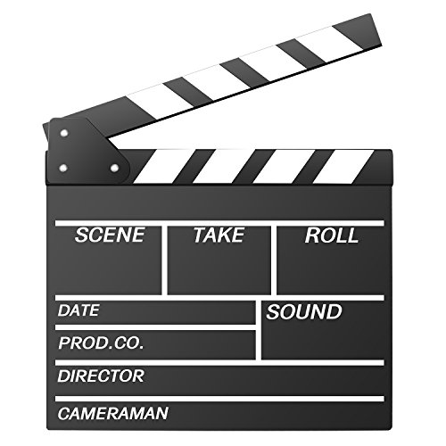 Neewer 12''X11''/30cm X 27cm Wooden Director's Film Movie Slateboard Clapper -