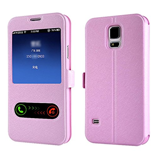 Window Leather Flip Case Cover Skin for Samsung Galaxy S5 G900 i9600 - 7