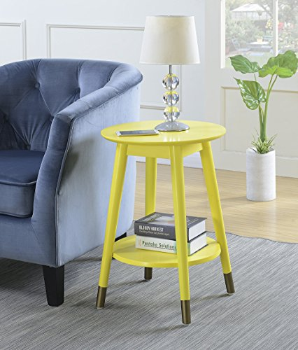 Convenience Concepts 7103050Y Wilson Mid Century Accent End Table, Yellow (Table Accent Yellow)