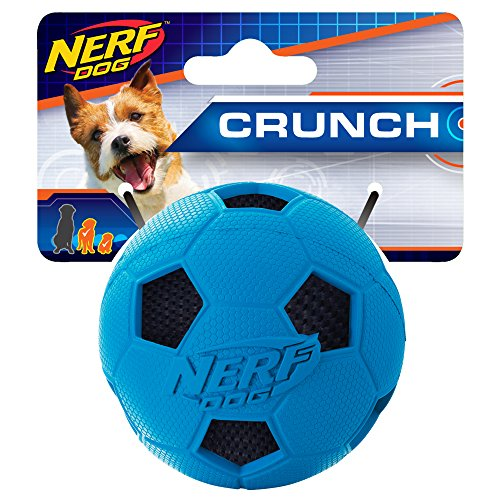 - Nerf Dog 2.5in Soccer Crunch Ball: Blue, Dog Toy