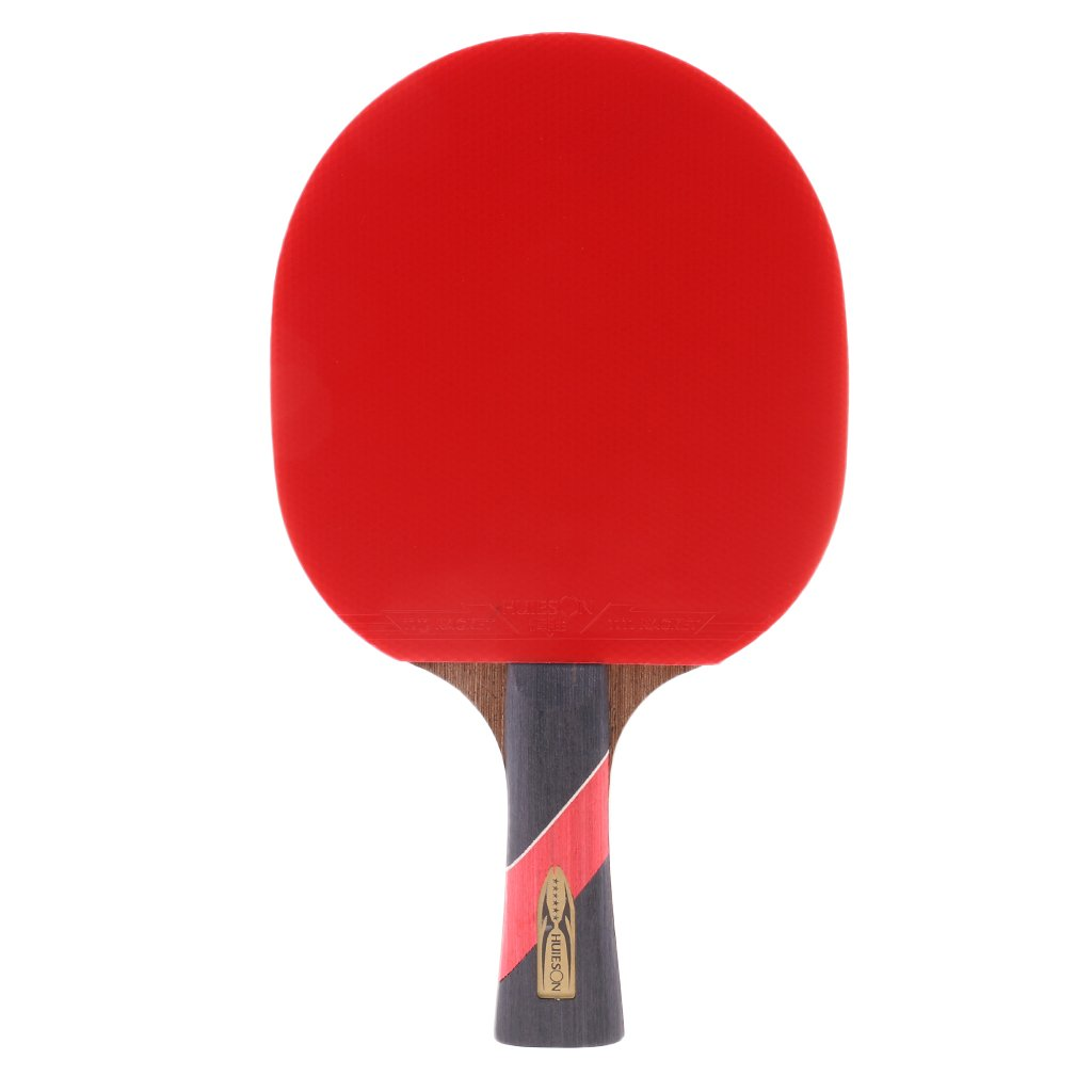 MagiDeal Wood Shakehand Grip Style Table Tennis Racket Ping Pong Bat Paddle - Lightweight & Practical & Durable
