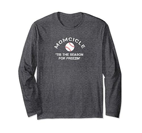 Unisex Baseball Mom Tis the Season for Freezing Momcicle Shirt Medium Dark Heather