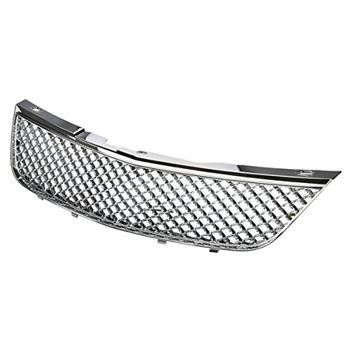 Chevy Impala ABS Plastic Mesh Style Front Upper Grille (Chrome) - 8th Gen W-body Hi-Mid