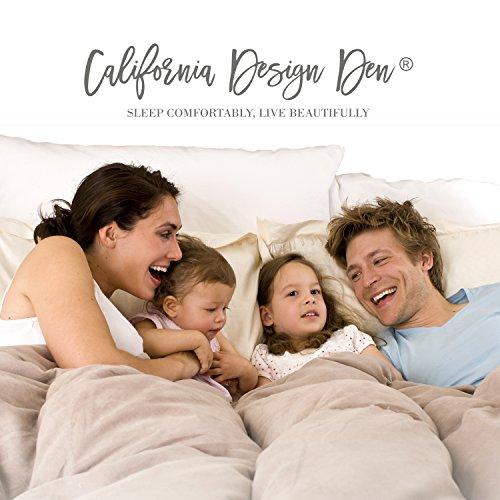 California Design Den Crazy Ruffled Breathable 100% Pure Cotton Luxury Quilt Sets, Full/Queen, Spa Blue, 3 Piece by California Design Den (Image #5)