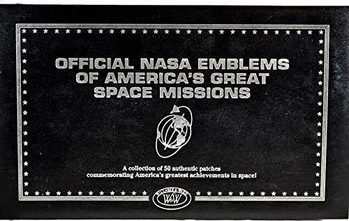 Willard & Ward - Official NASA Emblems of America's Great Space Missions - 50 Authentic Patches - OOP - Very Rare - Collectible