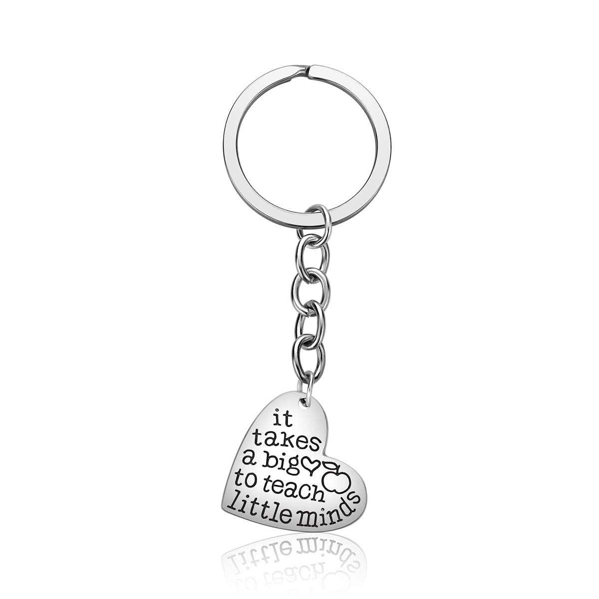 Teacher Appreciation Gifts for Women Thank You Gift Graduation Gift for Teachers 3PCS Heart Pendant Keychain Jewelry Set