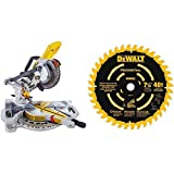 DEWALT DCS361M1 20V Max Cordless Miter Saw with DEWALT DW7114PT DEWALT DW7114PT 40T Precision Trim Miter Saw Blade, 7-1/4""