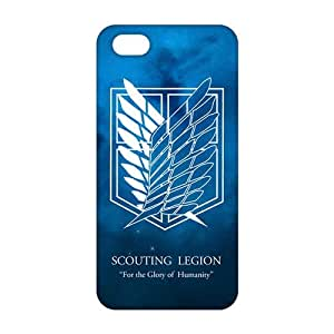 2015 Ultra Thin attack on titan wings of freedom 3D Phone Case for iPhone 5s