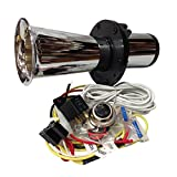 OOGA Horn Chrome Antique Classic Car Hot Rod Oooga Ahooga with Installation wire kit and button