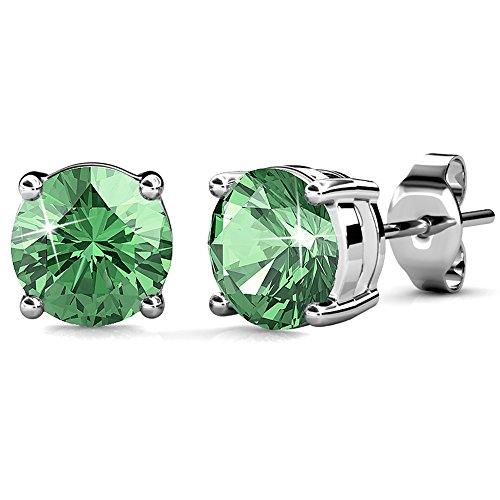 Earrings Sterling Birthstone Swarovski Elements