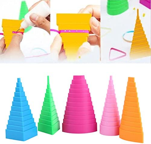 Mixed Color 5 Shapes Paper Quilling Border Buddy Paper Craft Tool DIY Quilled Creation Quilling Kit Jacksking Quilling Border