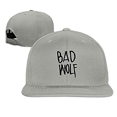 JAX D Unisex-Adult Dr. Who: Bad Wolf Adjustable Baseball Cap Hats Ash