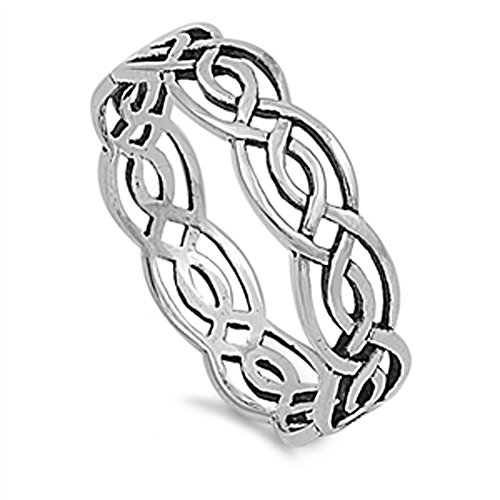 Cute Sterling Silver Celtic Knot (Celtic .925 Sterling Silver Ring Size 12)
