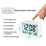 jiemei Digital Alarm Clock for Kids, 7 Colors LED