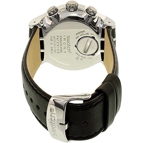 Swatch digital kvartsklocka för män med läderrem YOS451
