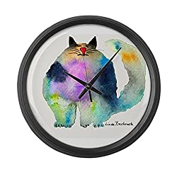 CafePress - The Bouncer Large Wall Clock - Large 17 Round Wall Clock, Unique Decorative Clock