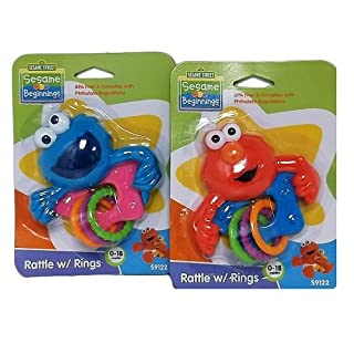 Wholesale Sesame Street Baby Rattle W-Rings