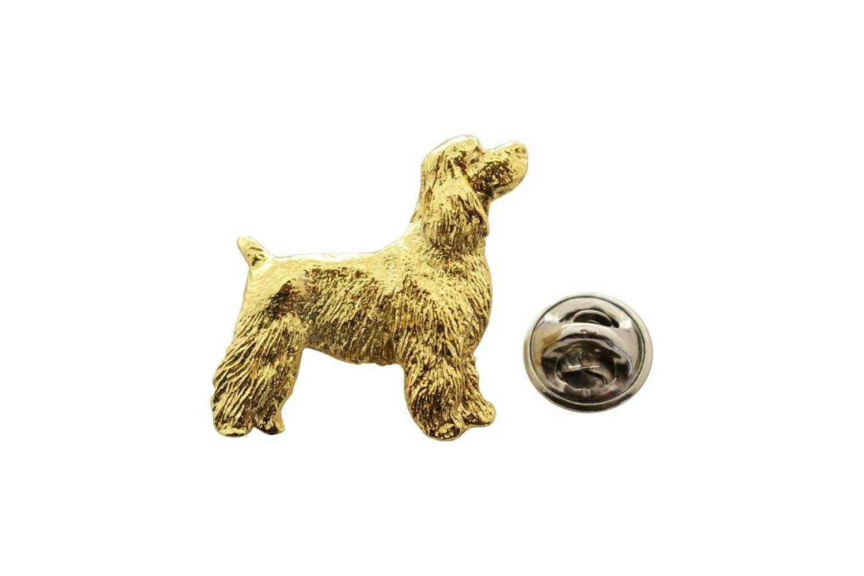 Cocker Spaniel Pup Pin ~ 24K Gold ~ Lapel Pin ~ Sarah's Treats & Treasures