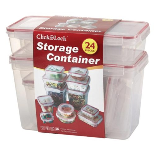 Euro-Home CL468 Gorgeous Click and Lock 24 Piece Storage Containers, Multicolor by Euro-Home