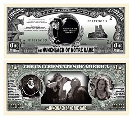The Hunchback of Notre Dame Million Dollar Novelty Money