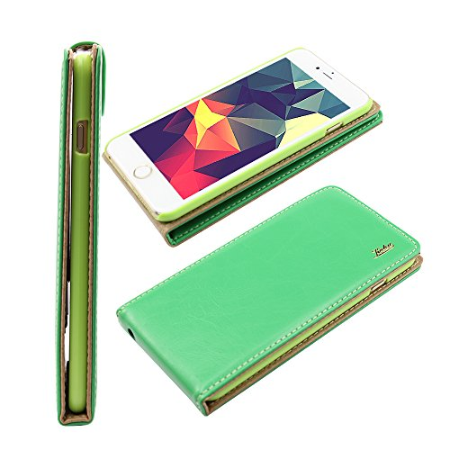 Iphone 6 plus 6s plus (5.5 inch) Ultra-Soft Second Layer PU Mix Green Leather Flip Case Cover with Two Card Slot for Apple Iphone 6 plus 6s plus (5.5 inch) by G4GADGET®