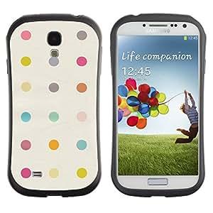 LASTONE PHONE CASE / Suave Silicona Caso Carcasa de Caucho Funda para Samsung Galaxy S4 I9500 / Dot Pattern Clean Band-Aid Pastel