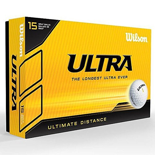 (2016 Wilson Staff Ultra LUE Ultimate Distance 2-Piece Mens Golf Balls Pack of 15 White)