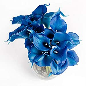 """Floral Kingdom 14"""" Calla Lily - Real Touch Latex Artificial - Flowers for Home décor, Wedding Bouquets, and centerpieces (20 Stems) 60"""