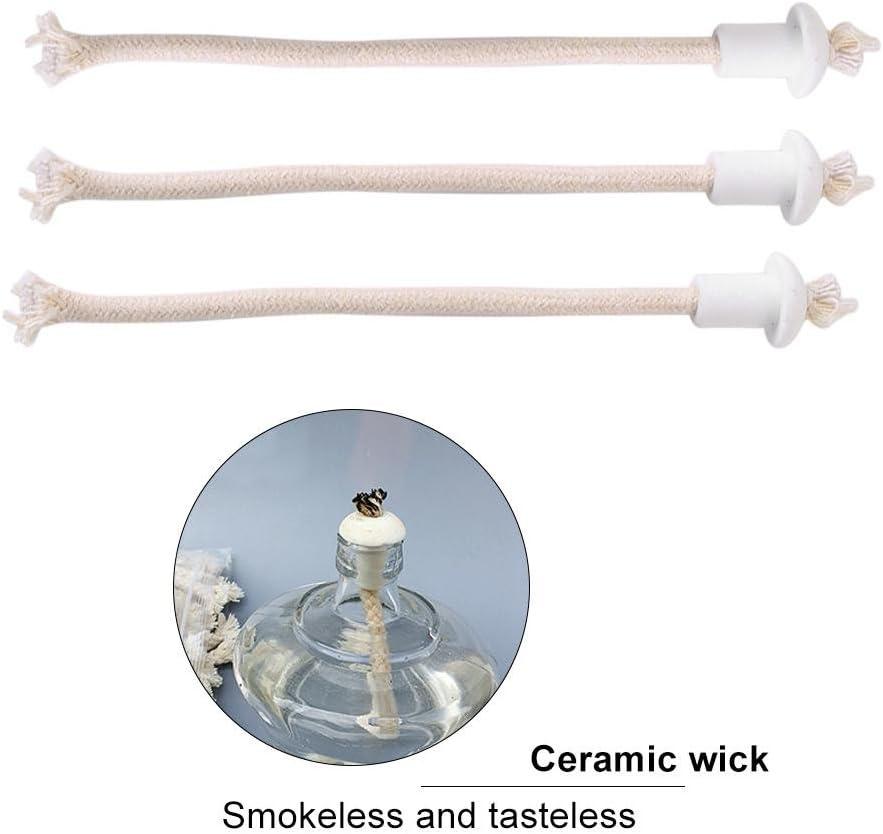 Meiyya Keramische Dochte hitzebest/ändige Glasfaserhalter f/ür Flaschenkerzenlampen
