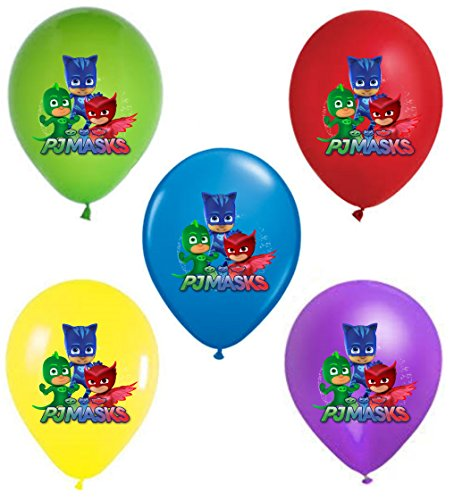 PJ Masks 12'' Party Balloons 25 pcs, assorted colors 2018 New Design by VISION Party Balloons