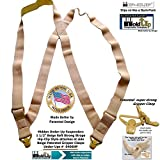 Hold Brand Under-Up Tan Suspenders with Beige Gripper Clasp