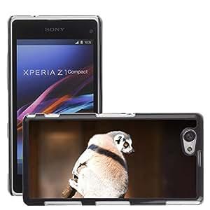 GoGoMobile Slim Protector Hard Shell Cover Case // M00124233 Lemur Tree Branch Wildlife Animal // Sony Xperia Z1 Compact D5503