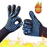 MYUREN Professional Heat Resistant Gloves 1472°F BBQ Cooking Grill Gloves Food Grade Kitchen