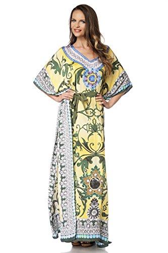 bunt Gelb Glamour Femme Fashion Robe Angies qwx1A7Ppc